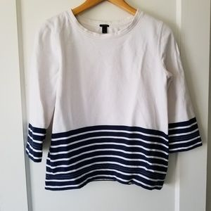 J Crew nautical fleece pullover